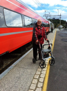 Brian in Norway with Active Rollator