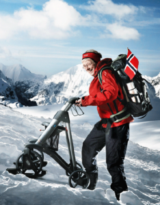Active-Walker with skis