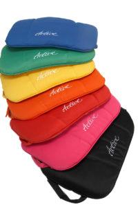 Active rollator cushions rainbow colours